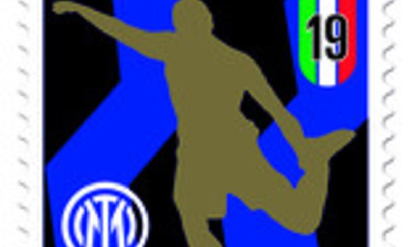 Un francobollo celebra lInter campione dItalia