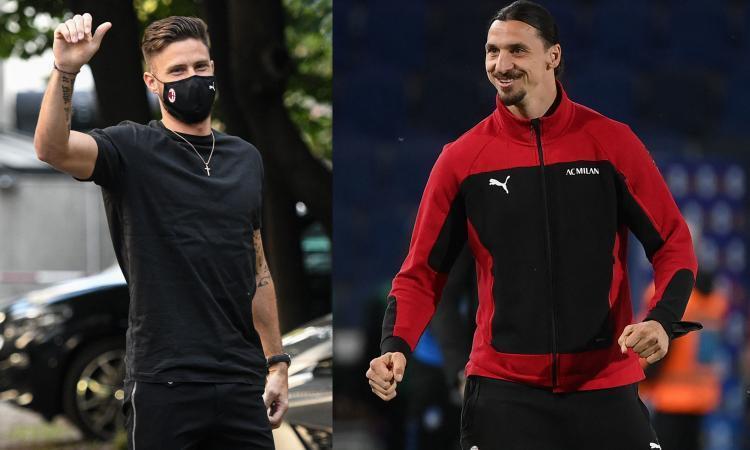 Giroud convince subito il Milan Pioli pensa alla coppia con Ibra aspettando un trequartista dal mercato i nomi