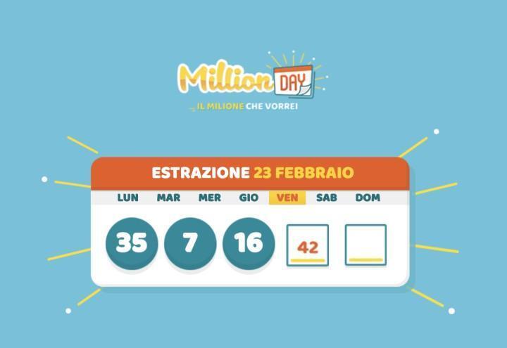 Million Day numeri vincenti/ Cinquina vincente dellestrazione di oggi 2 agosto 2021