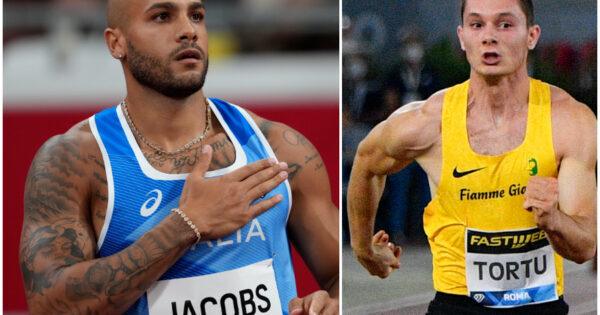 Chi Jacobs lazzurro che vince i 100 mt in 994 con il record italiano Tortu lo raggiunge in semifinale