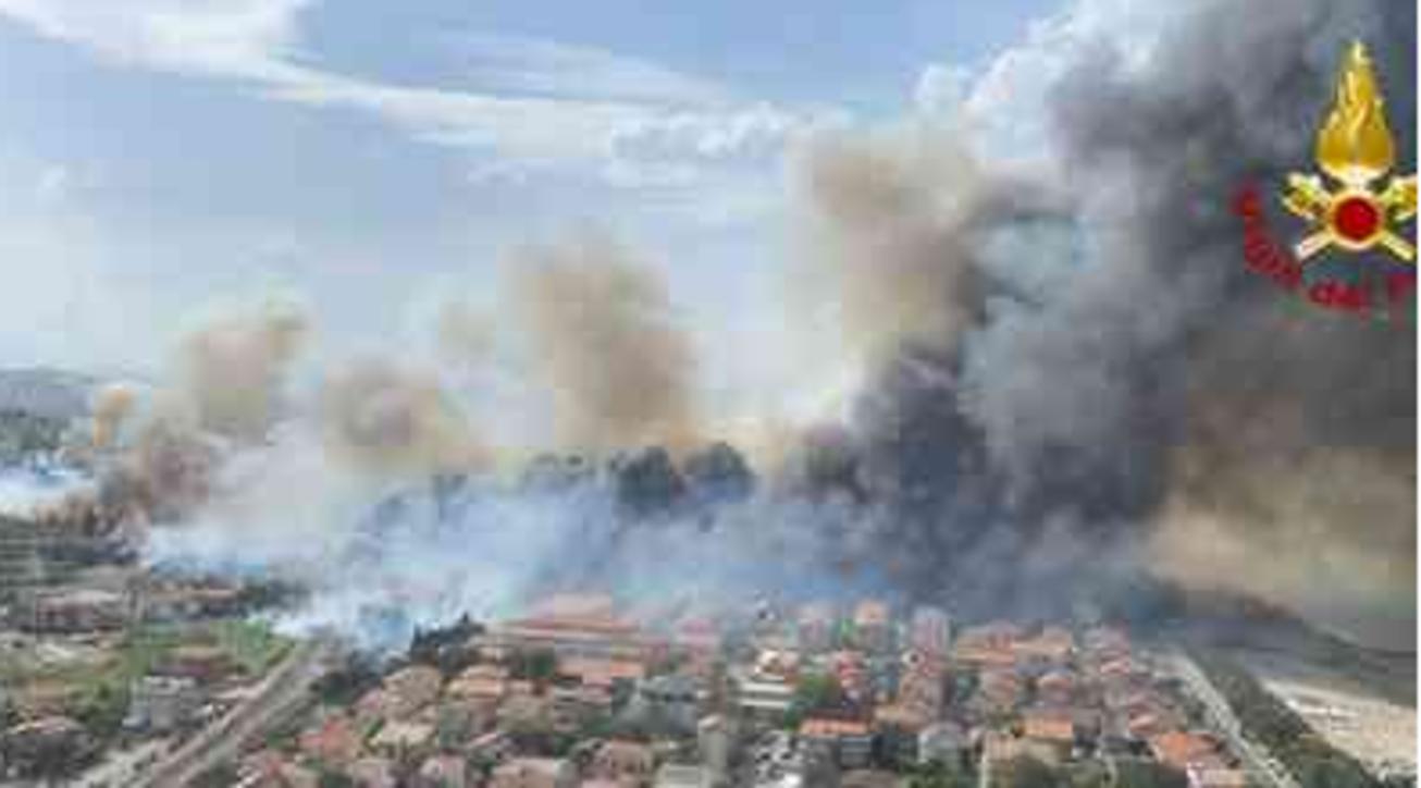 Incendi a Pescara dallalto la pineta Dannunziana un buco nero nel verde