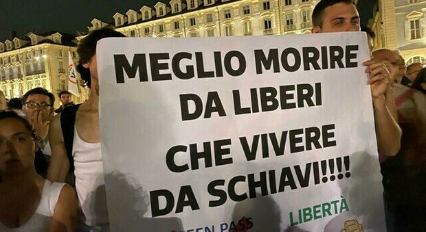 No green pass nuova manifestazione a Roma Strumento di segregazione sociale