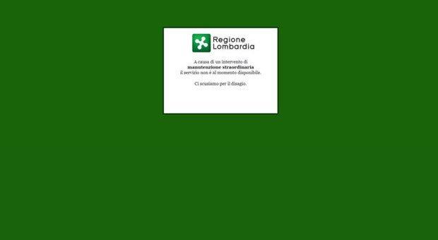 Lombardia piattaforma sanitaria Aria bloccata stop rilascio Green pass