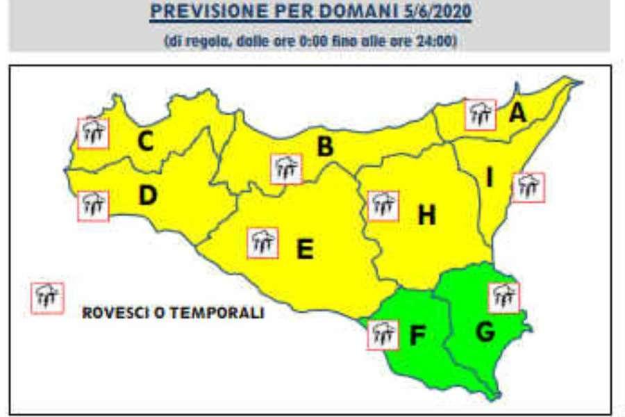Meteo, allerta gialla maltempo in Sicilia: venti di burrasca