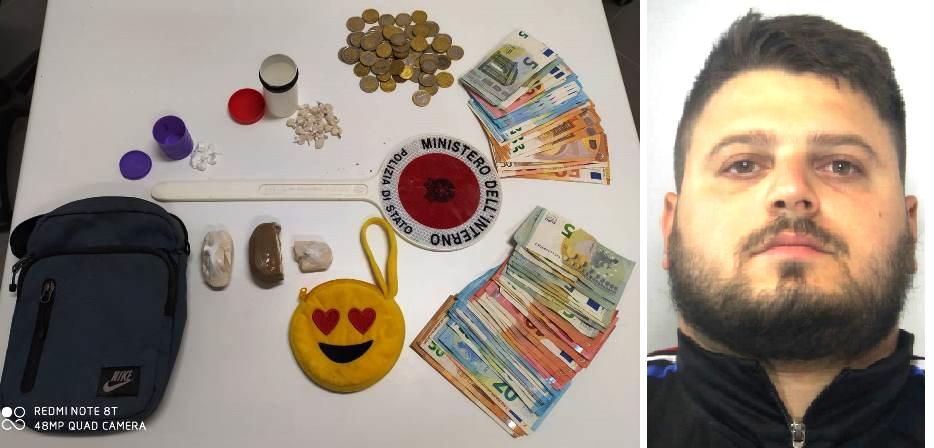 Droga che avrebbe fruttato 4 mila euro: inchiodato dal fiuto di Mavi e Colt