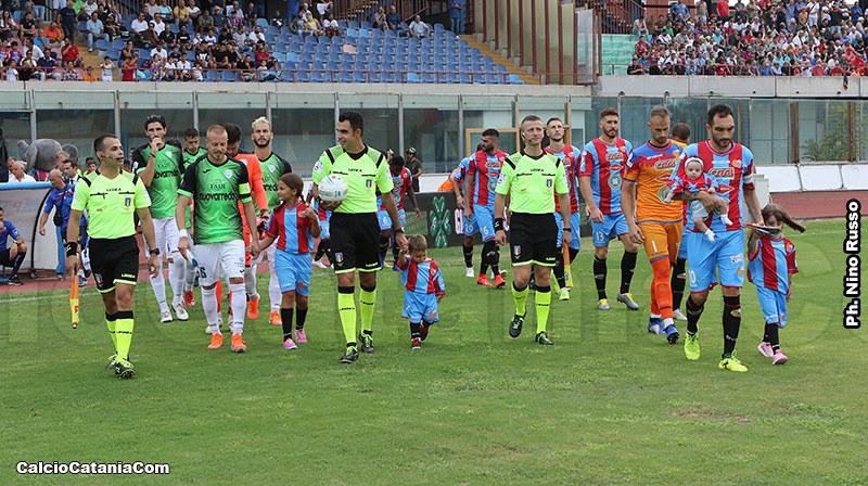 Catania-Virtus Francavilla: calcio d'inizio alle ore 20.30