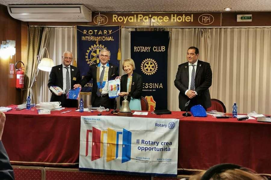Visita del governatore Alfio Di Costa al Club Rotary di Messina