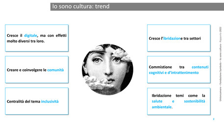 Il sistema culturale e creativo italiano 2020 vale 846 mld