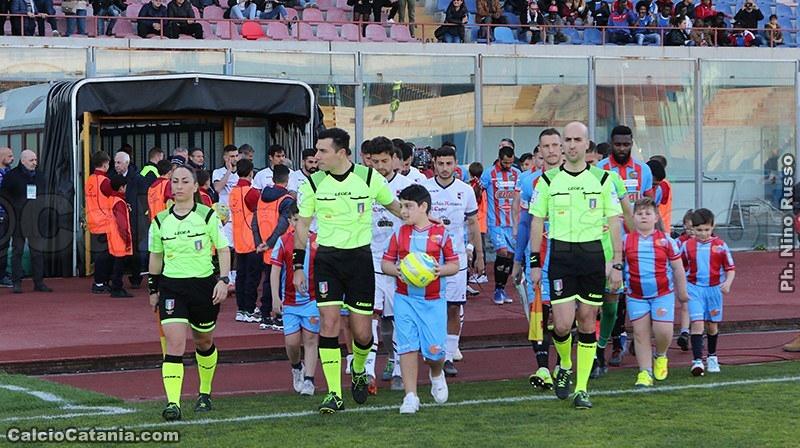 Catania-Virtus Francavilla, 1-2,: squadre negli spogliatoi