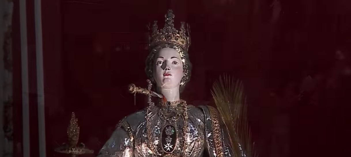 Siracusa, esposizione straordinaria del simulacro di Santa Lucia in Cattedrale