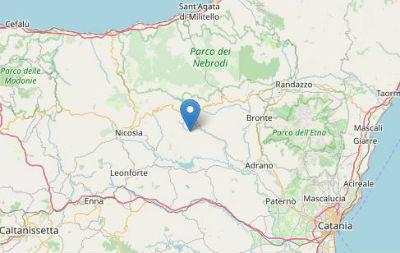 Terremoto ML 2.2 il 04-07-2020 ore 02:56:46 a 8 km E Troina, EN,