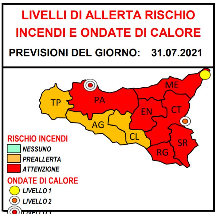 Sicilia altra giornata rovente Anche oggi allerta rossa per caldo e rischio incendi