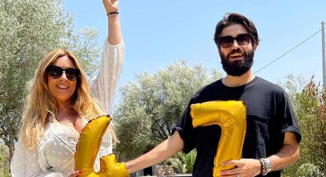 Selvaggia Lucarelli compleanno a Noto Biagiarelli Auguri amore mio