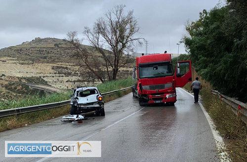 Violento scontro sotto la pioggia nei pressi di Ciuccafa