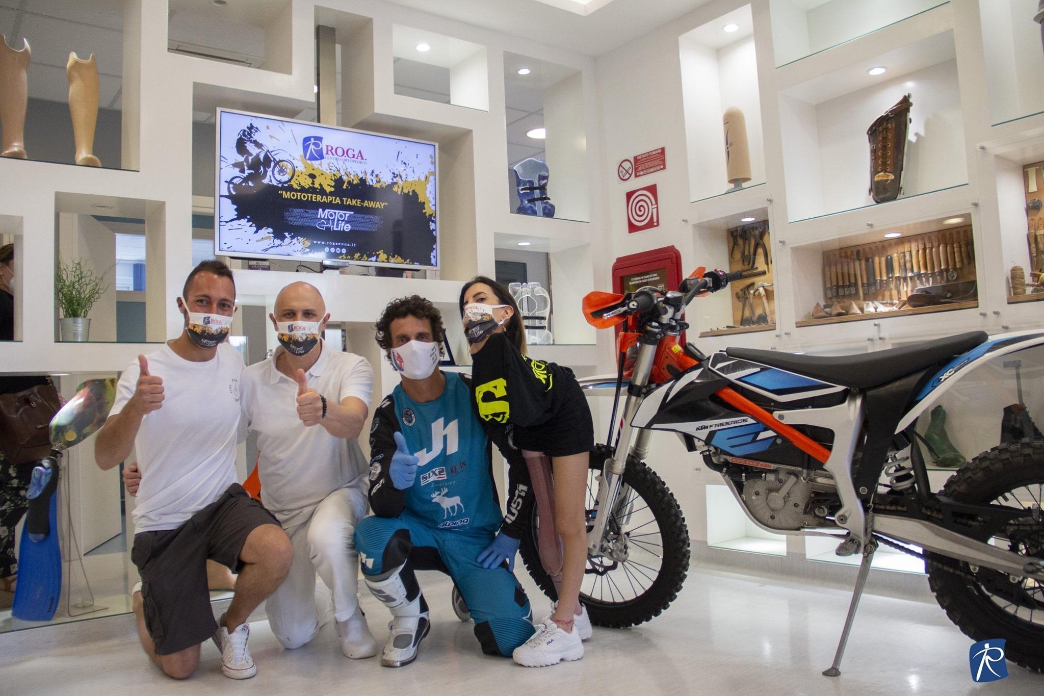 La Mototerapia Take-Away arriva al centro ortopedico RO.GA.