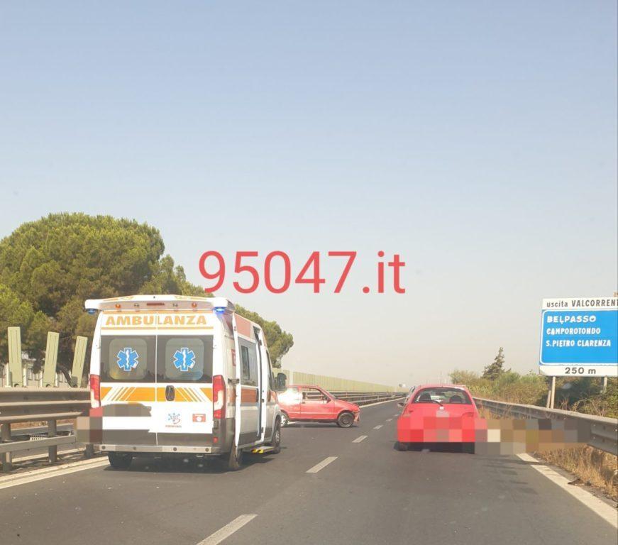 MISTERIOSO INCIDENTE SULLA SS121 AUTO INCIDENTATA ABBANDONATA IN CORSIA DI SORPASSO