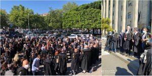Flash mob degli avvocati a Catania