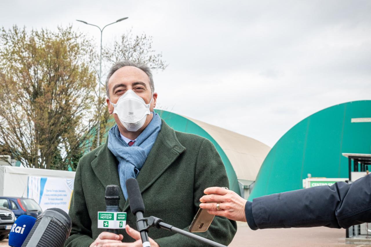 Gallera ascoltato in Procura a Bergamo: «Preoccupato? No, essere qui è un atto dovuto»