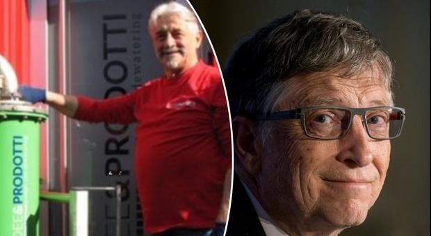 Vincenzo, da operaio a piccolo imprenditore, riceve un milione di dollari da Bill Gates per una buona causa
