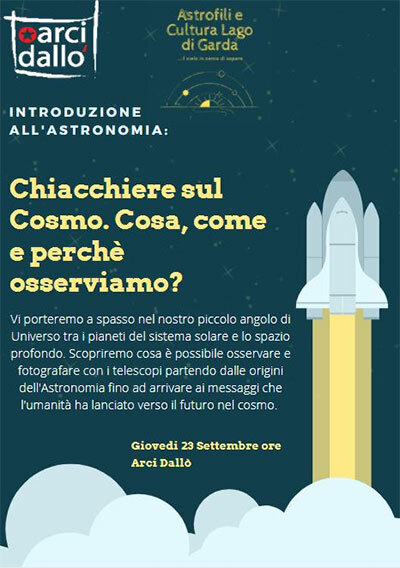 Introduzione Astronomia Arci Dall Castiglione delle Stiviere 2021