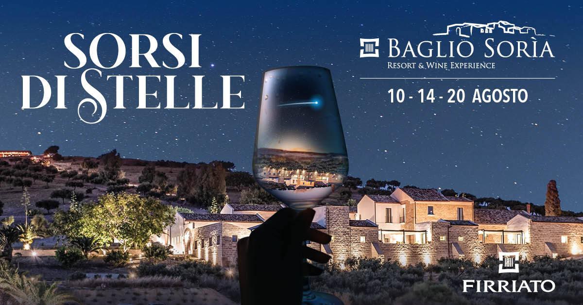 Sorsi di Stelle a Baglio Sorìa Tre serate dagosto per i wine lover
