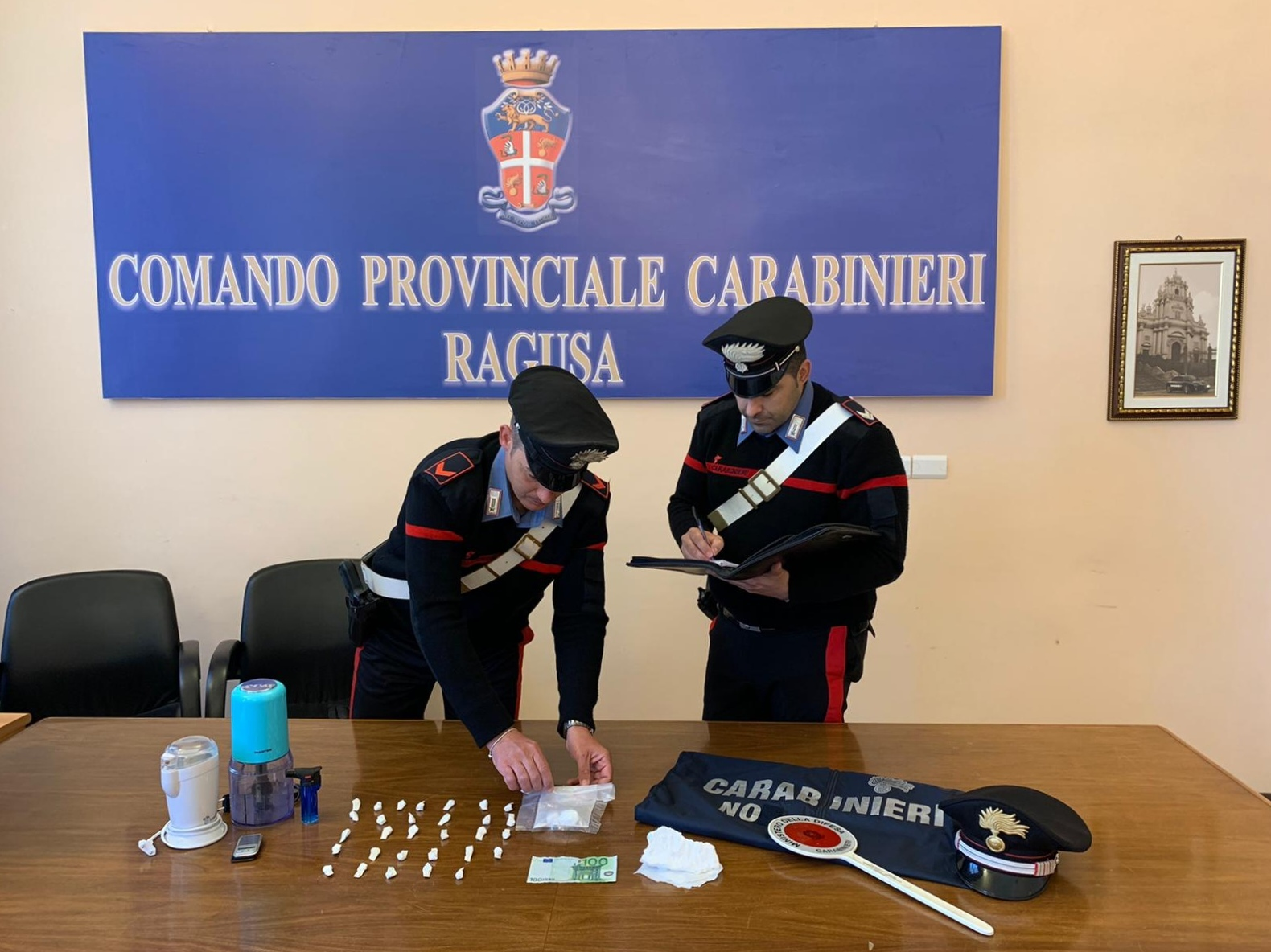 Ragusa - Arrestato dai Carabinieri - Ragusano con 50 grammi di cocaina
