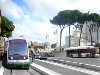 Roma, arriva il tram dei Fori Imperiali