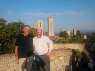 Martin Schulz in vacanza a San Gimignano