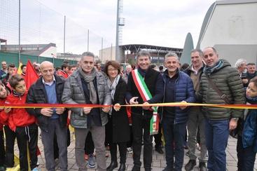 Baggio inaugura campo calcio a Caldogno