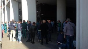 Geominerario: sit-in operai in Consiglio