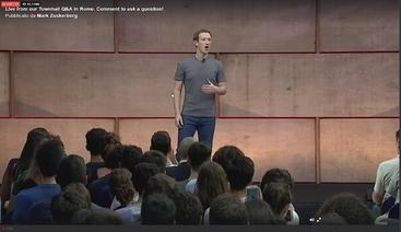 Giornata romana per Mark Zuckerberg