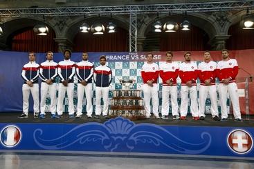 Coppa Davis: apre Tsonga-Wawrinka