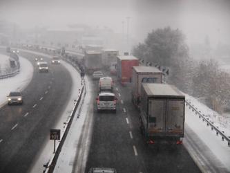 Maltempo: nevischio su autostrade E-R
