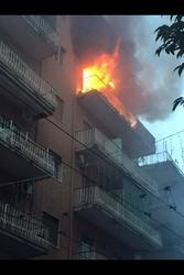 Incendio in appartamento a Portici