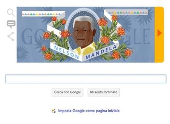 Per il Nelson Mandela Day, doodle Google