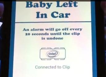 Fibbia 'smart' salva bambini in macchina