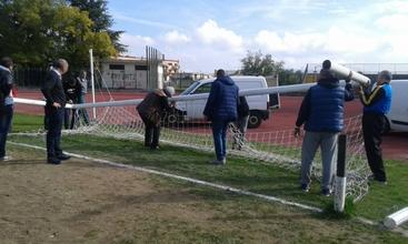 Calcio:segati pali porta a Castrovillari