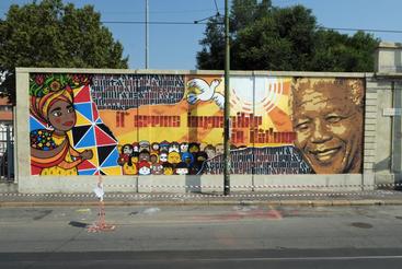 A Milano un murale per Mandela