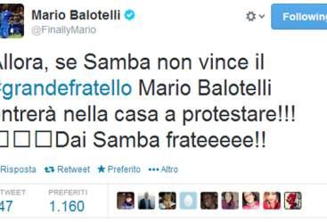 Balo minaccia il Grande Fratello su twitter
