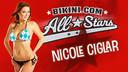 Nicole shows off her itsy bitsy red polka dot bikini