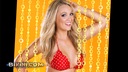 She wore an itsy-bitsy red polka dot bikini