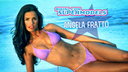 Sexy comedienne Angela Fratto will tickle your funny bone in her bikini