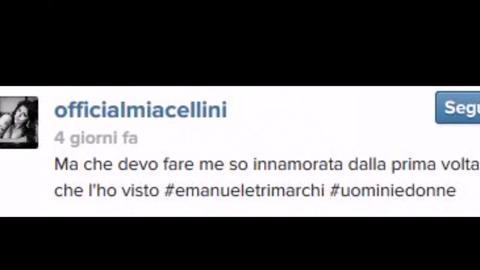 Mia Cellini, amore spassionato per Emanuele Trimarchi