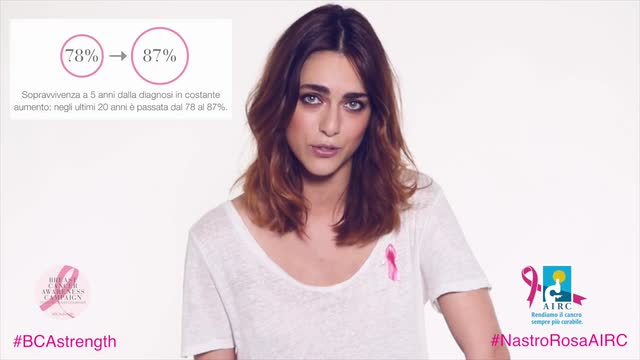 Miriam Leone, madrinadella Breast Cancer Awareness Campaign