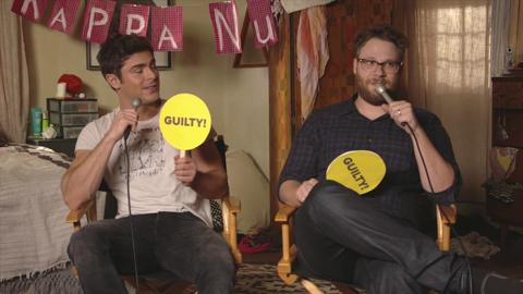 Zac Efron And Seth Rogen Played Never Have I Ever And Shit Got Real
