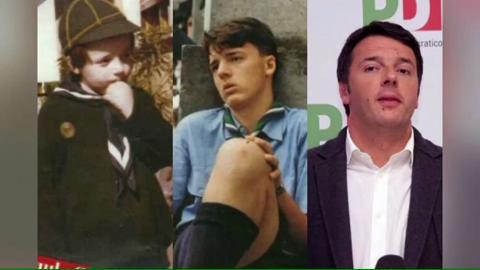 Matteo Renzi vittima degli scherzi di Massimo Ceccherini