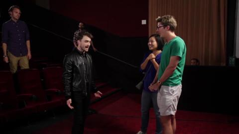 Daniel Radcliffe Surprised Fans At A Movie Theater And It Was Glorious