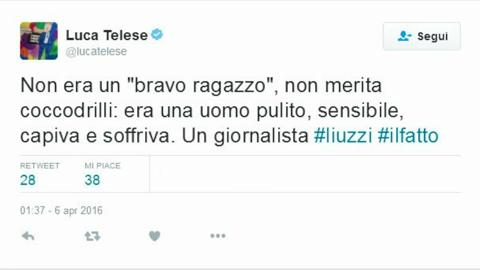 Morto il giornalista Liuzzi, compagno di Lucrezia Lante della Rovere