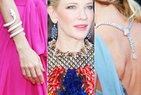 Cannes, gioielli da star: oro, pietre preziose e cascate di diamanti