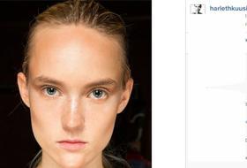 Modelle con e senza trucco: foto-confronto